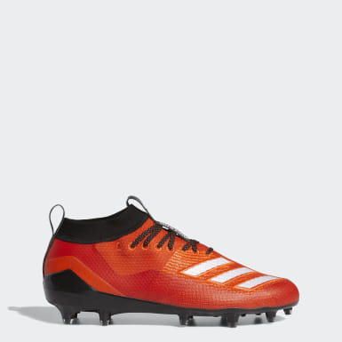 Men's Football Orange Adizero 8.0 Cleats