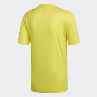 Men Football Yellow Striped 19 Jersey