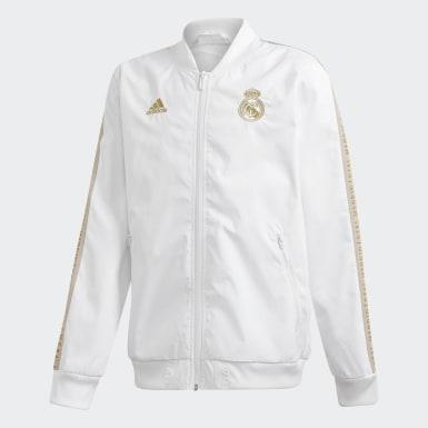 Chaqueta Himno Real Madrid Blanco Niño Fútbol