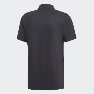Heren Athletics zwart Must Haves Plain Poloshirt