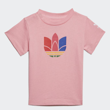 Infants Originals Pink Adicolor 3D Trefoil Tee