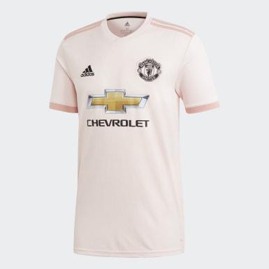 Jersey de Visitante Manchester United Replica Rosa Hombre Fútbol