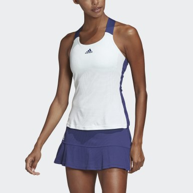 Women Tennis White HEAT.RDY Y-Tank Top