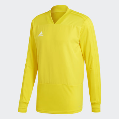 Men Football Yellow Condivo 18 Player Focus Training Top