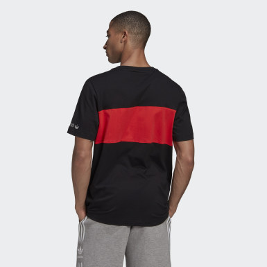 Men Originals Black Panel Trefoil Tee