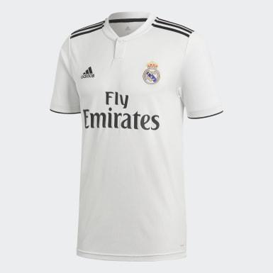 Camisola Principal do Real Madrid Branco Homem Futebol