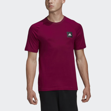 Erkek Athletics Bordo Must Haves Stadium Tişört