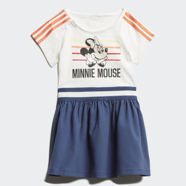 Girls Training White Minnie Mouse Summer Set