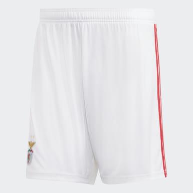 Men Football White Benfica Home Shorts