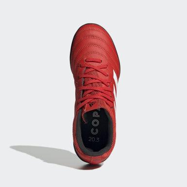 Calzado de Fútbol Copa 20.3 Pasto Sintético Rojo Niño Fútbol