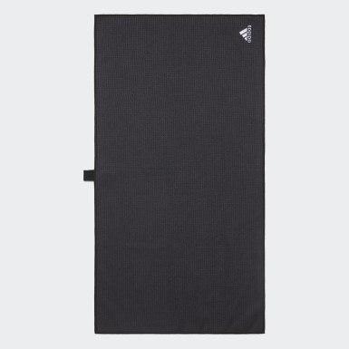 Men Golf Black Towel Large