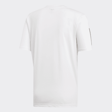 Männer Padel-Tennis 3-Streifen Club T-Shirt Weiß