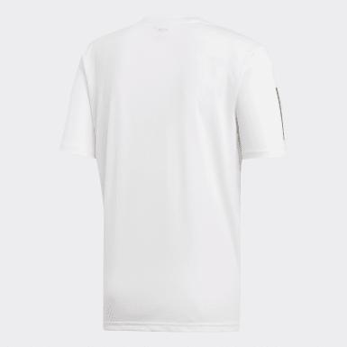 Heren Padel Tennis wit 3-Stripes Club T-shirt