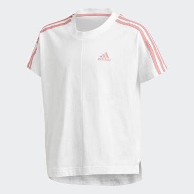 Girls Træning Hvid 3-Stripes T-shirt