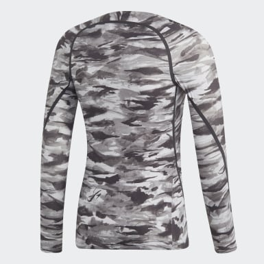 Men Originals Grey adidas x UNDEFEATED Alphaskin 360 1/1 Long-Sleeve Top