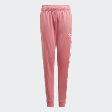 Kinderen Originals roze Adicolor SST Trainingsbroek