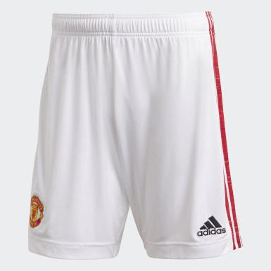 Calções Principais 20/21 do Manchester United Branco Homem Futebol