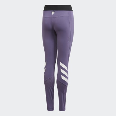 Girls Yoga Purple The Future Today Tights