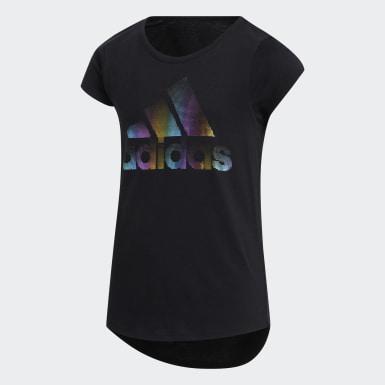 T-shirt Cap Sleeve noir Enfants Entraînement