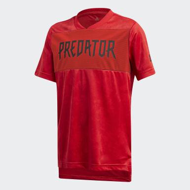 Boys Träning Röd Predator Allover Print Jersey