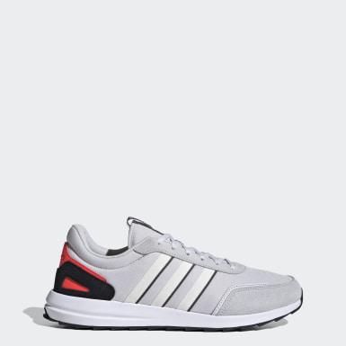 Men Sport Inspired Grey Retrorun Shoes