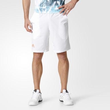 Shorts Barricade Bermuda Blanco Hombre Tennis
