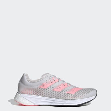 Women Running Grey Adizero Pro Shoes
