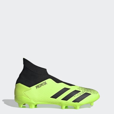 Football Green Predator Mutator 20.3 Laceless Firm Ground Boots