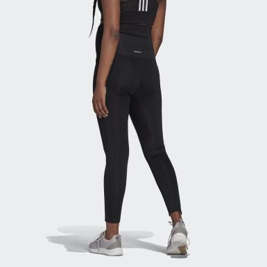 Women Training Black Designed To Move 7/8 Sport Tights (Maternity)