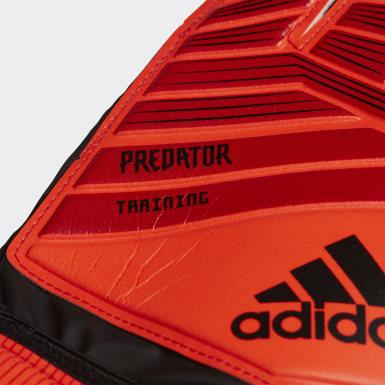 Football Red Predator Training Goalkeeper Gloves