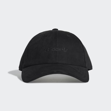 Originals Premium Essentials Suede Baseball Kappe Schwarz
