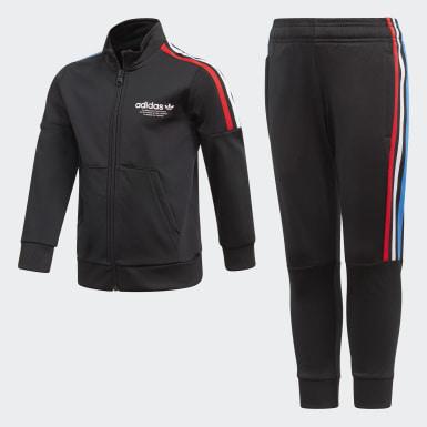 Kinder Originals Adicolor Primeblue Trainingsanzug Schwarz
