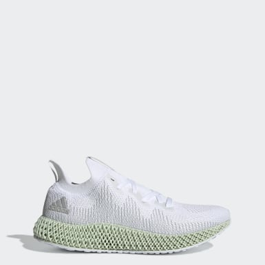 Men Running White Alphaedge4D Shoes