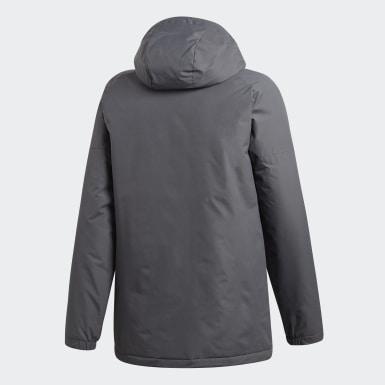 Men TERREX Grey Xploric 3-Stripes Winter Jacket