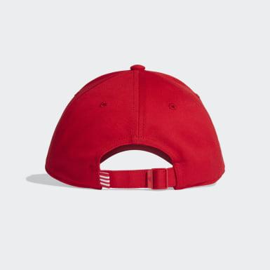 Tenis červená Šiltovka Baseball 3-Stripes Twill