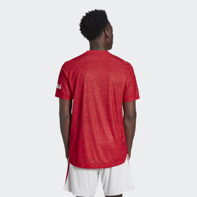 Manchester United 20/21 Home Authentic Trøye Rød