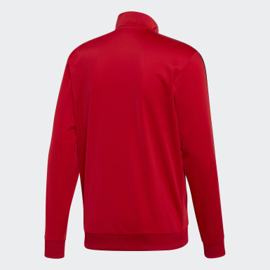 Men Essentials Red Essentials 3-Stripes Tricot Track Top