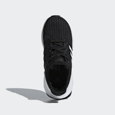 Children Running Black RapidaRun Knit Shoes
