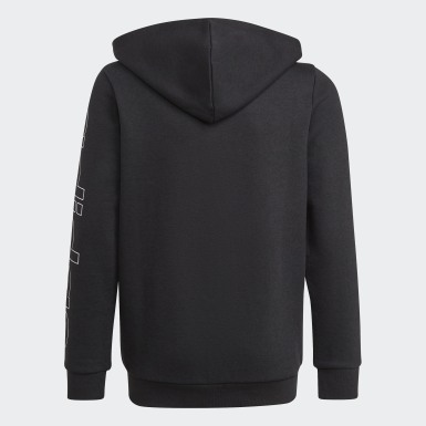 Boys Sport Inspired Black Essentials Hoodie