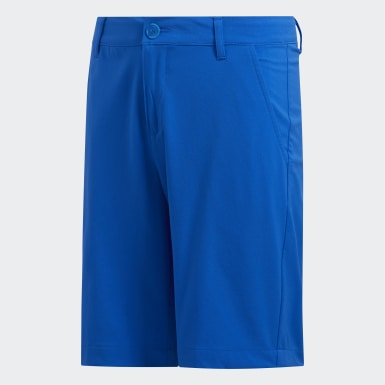 Boys Golf Blue Solid Golf Shorts