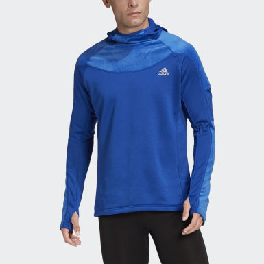 Men Running Blue Own the Run Warm Hoodie