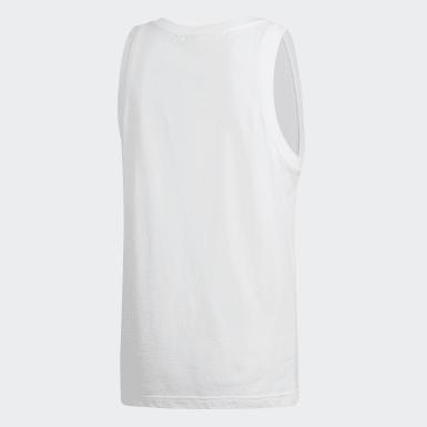 Camiseta sin mangas Trefoil Blanco Hombre Originals