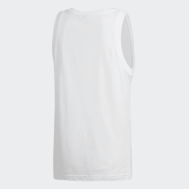 Men Originals White Trefoil Tank Top