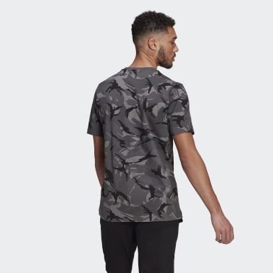 Men Athletics Grey Essentials Camouflage Tee
