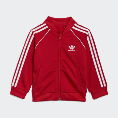 Kids Originals Red Adicolor SST Tracksuit