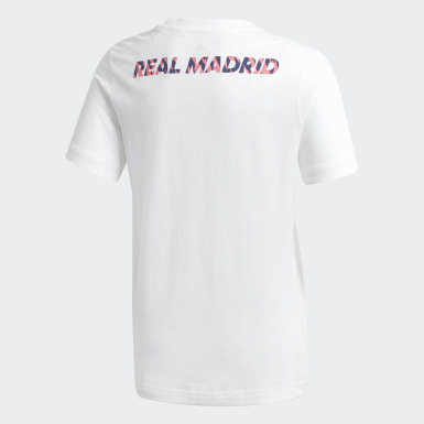 Playera Estampada Real Madrid Blanco Niño Fútbol