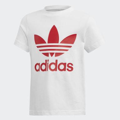 Zestaw szorty i koszulka Trefoil Czerwony