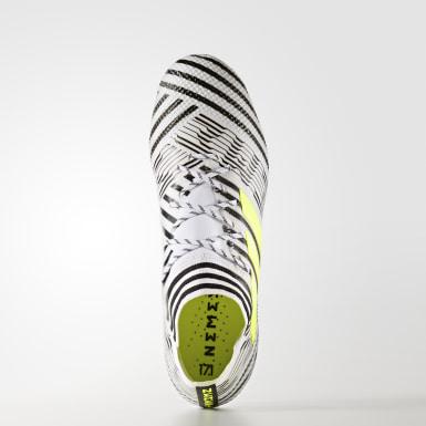 Calzado de fútbol Nemeziz 17.1 césped natural seco Blanco Hombre Fútbol