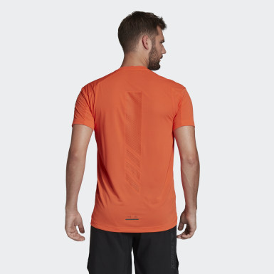 Men TERREX Orange Terrex Agravic Trail Running T-Shirt