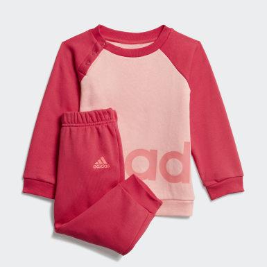 Linear Fleece joggedress Rosa